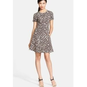 Kate Spade cheetah fit-and-flare dress